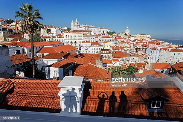 Portugal, Lisbon, Alfama, Miradouro de Santa Luzia, view over the city