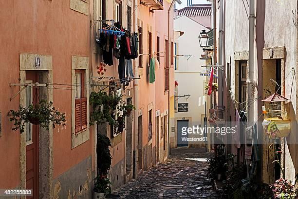 Portugal, Lisbon, Alfama, view to Rua de Santa Cruz do Castelo
