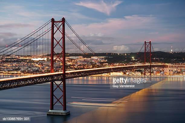 Portugal, Lisbon, April 25th Bridge (long exposure)