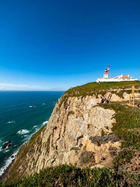 Portugal, Lisbon District, Sintra, Clear blue sky over Cabo da Roca Lighthouse