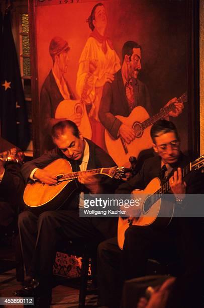 Portugal Lisbon Fado Restaurant Guitarists Musicians
