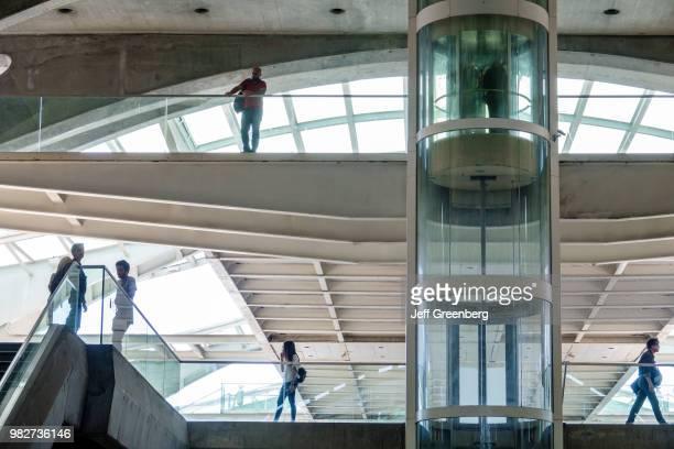 Portugal Lisbon Gare do Oriente Santiago Calatrava railway station interior