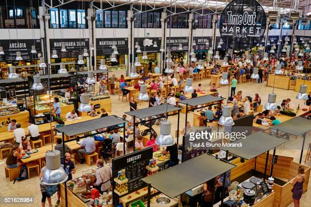 Portugal, Lisbon, Mercado da Ribeir, restaurants