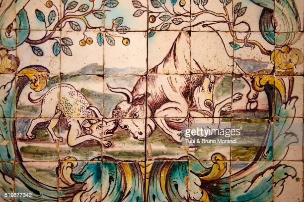 Portugal, Lisbon, National Museum of Azulejo, ceramic tiles