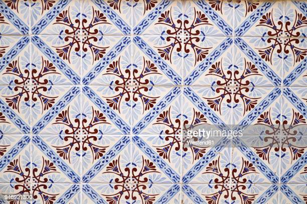 Portugal, Lisbon, part of wall with azulejos