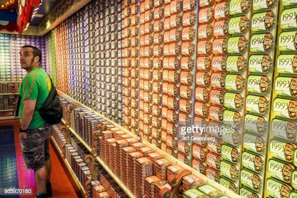 Portugal, Lisbon, Rossio Square, Pedro IV Square, Portuguese Sardines cans on display.
