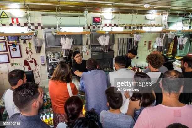 Portugal Lisbon Rua de Belem Pao Pao Queijo Queijo busy sandwich shop