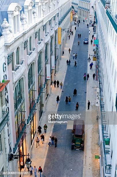 portugal, lisbon, rua do carmo - rua stock pictures, royalty-free photos & images