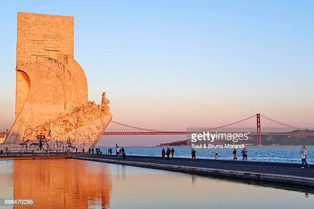 portugal, lisbon, the discoveries monument - lisbon stock pictures, royalty-free photos & images