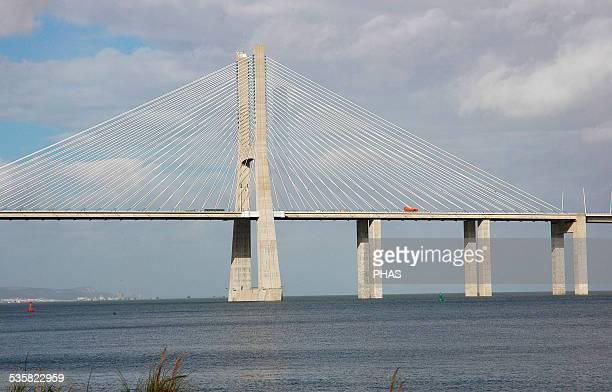 Portugal Lisbon The Vasco da Gama Bridge Built in 1995