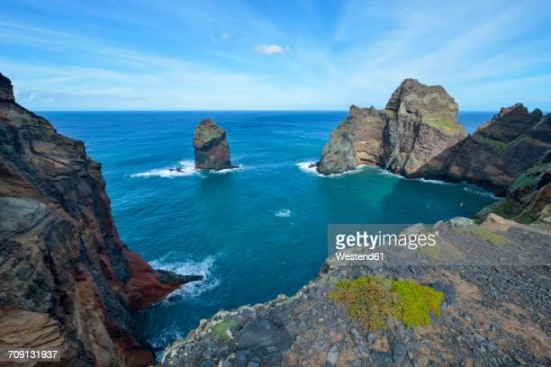 portugal, madeira, nature reserve ponta de sao lourenco, peninsula on the east coast - madeira island fotografías e imágenes de stock