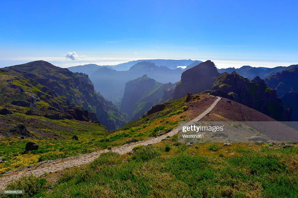 Portugal, Madeira, Pico Ruivo, hiking trail : Stock Photo