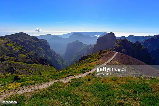 Portugal, Madeira, Pico Ruivo, hiking trail