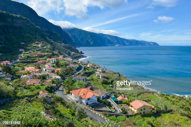 Portugal, Madeira, view of Ponta Delgada on the north coast