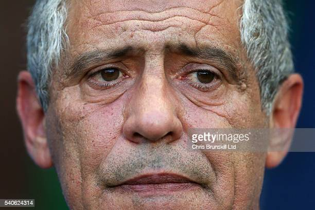 Portugal manager Fernando Santos looks on during the UEFA Euro 2016 Group F match between Portugal and Iceland at Stade GeoffroyGuichard on June 14...