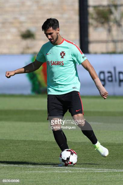 Portugal midfielder Andre Gomes during Portugal Training Session and Press Conference the at Cidade do Futebol on June 05 2017 in Lisbon Portugal