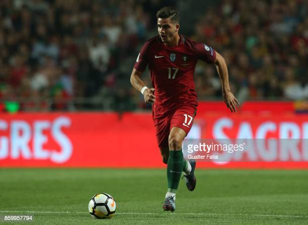 Portugal midfielder Andre Silva in action during the FIFA 2018 World Cup Qualifier match between Portugal and Switzerland at Estadio da Luz on...