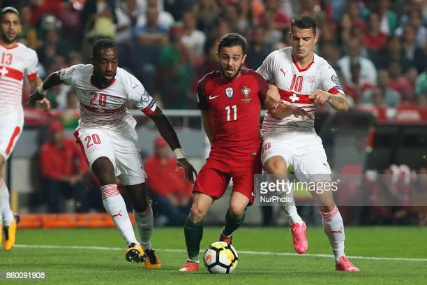 Portugal midfielder Bernardo Silva during the match between Portugal v Switzerland FIFA 2018 World Cup Qualifier match at Luz Stadium on October 10...