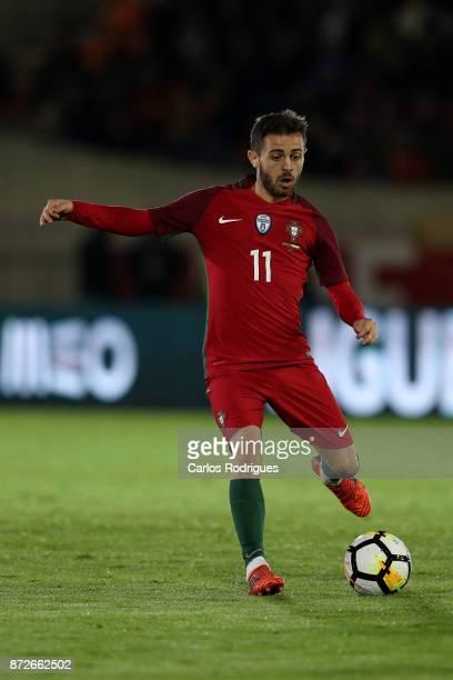 Portugal midfielder Bernardo Silva during the match between Portugal and Saudi Arabia InternationalFriendly at Estadio do Fontelo on November 10 2017...