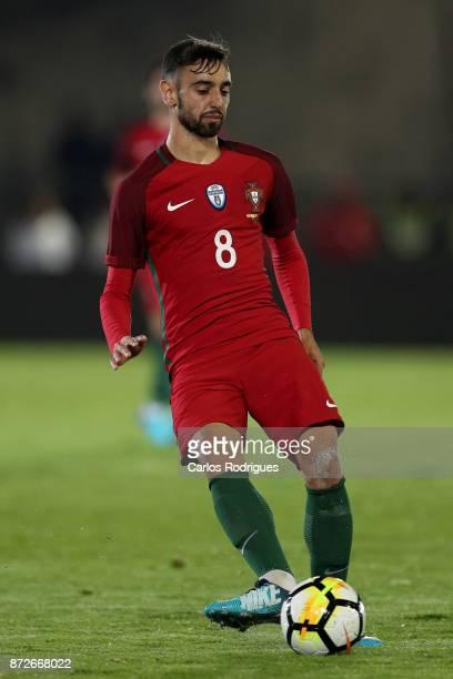 Portugal midfielder Bruno Fernandes during the match between Portugal and Saudi Arabia InternationalFriendly at Estadio do Fontelo on November 10...