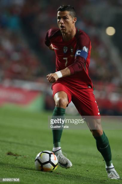 Portugal midfielder Cristiano Ronaldo in action during the FIFA 2018 World Cup Qualifier match between Portugal and Switzerland at Estadio da Luz on...