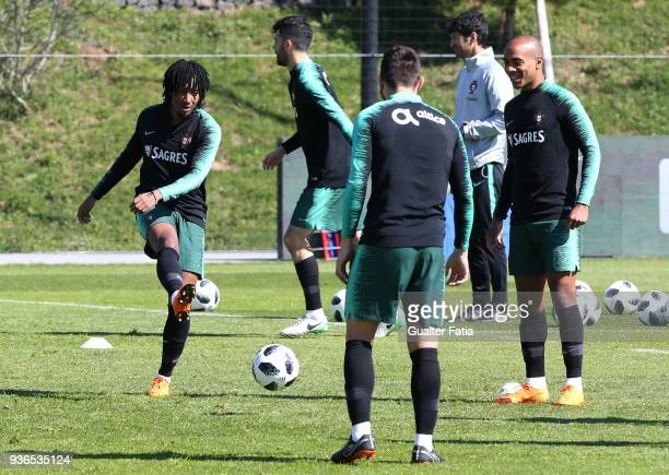 Portugal midfielder Gelson Martins in action during Portugal National Team Training session before the friendly matches against Egypt and the...