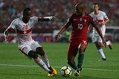 portugal midfielder joao mario r switzerland