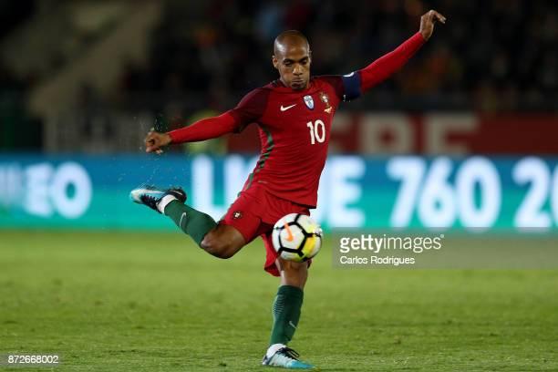 Portugal midfielder Joao Mario during the match between Portugal and Saudi Arabia InternationalFriendly at Estadio do Fontelo on November 10 2017 in...