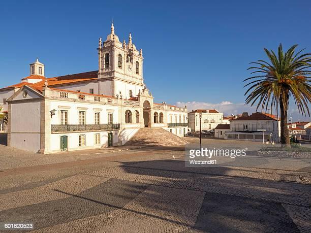 portugal, nazare, sitio, church - estremadura stock-fotos und bilder