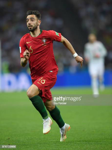 Portugal player Bruno Fernandes in action during the 2018 FIFA World Cup Russia group B match between Portugal and Spain at Fisht Stadium on June 15...