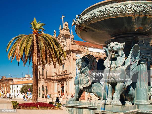 Portugal, Porto, Church of Carmo - Fountain in Gomes Teixeira square