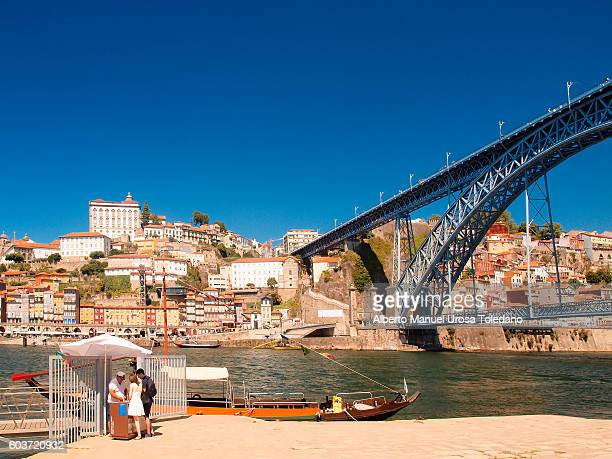 Portugal, Porto, Luiz I Bridge and the Ribeira