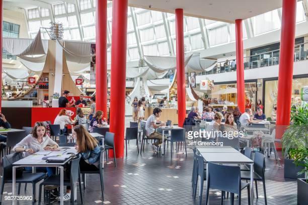 Portugal, Porto, Mercado do Bom Sucesso, market food court plaza.