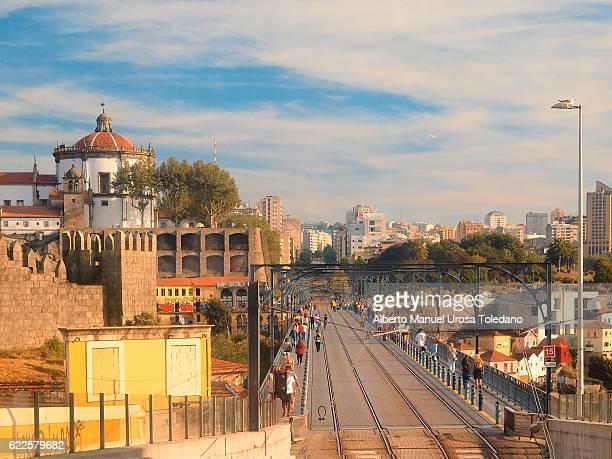Portugal, Porto, Monastery and Luiz I bridge