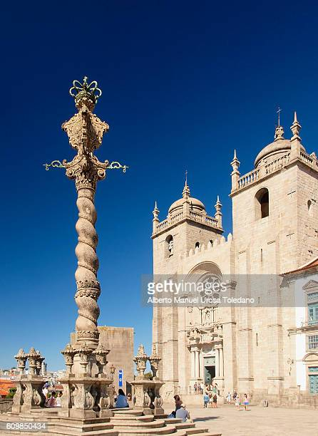 Portugal, Porto, Pillory and cathedral