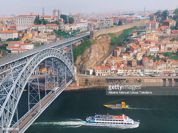 Portugal, Porto, Ribeira do Duero and Luiz I bridge - Cruises