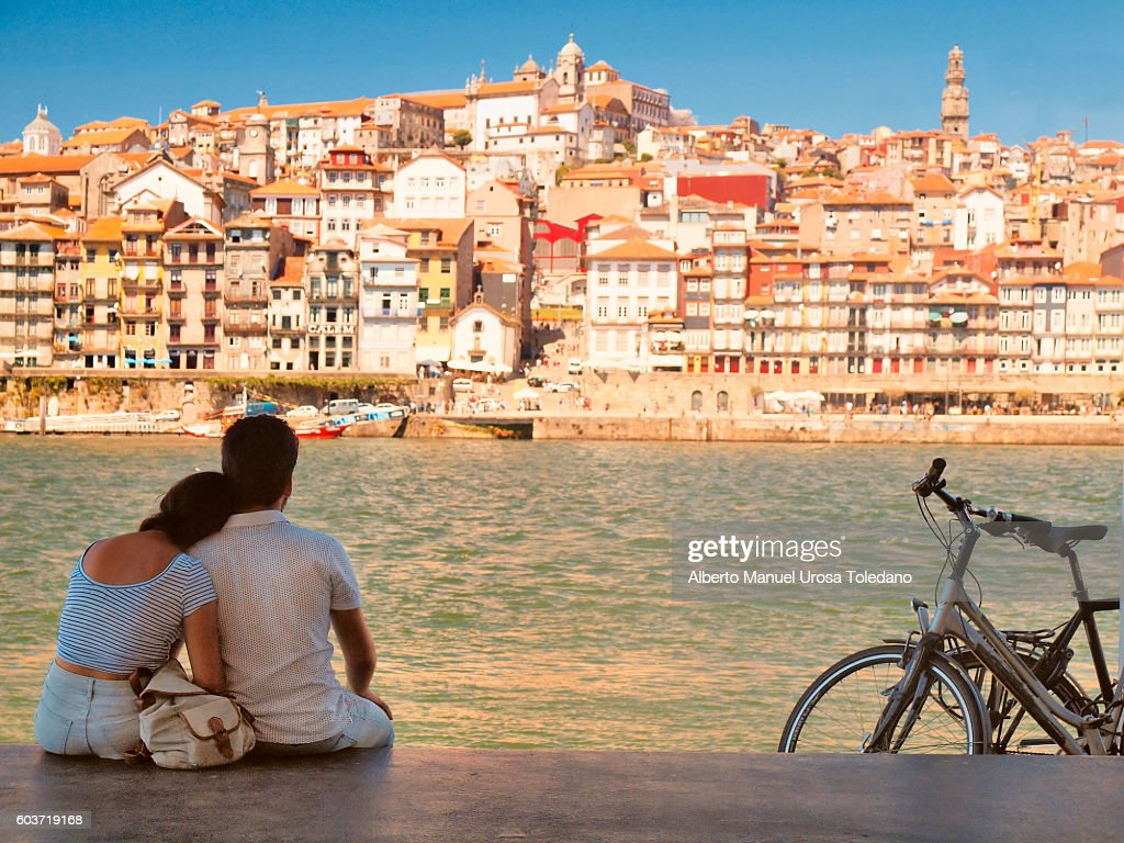 Portugal, Porto, Seascape ad Lovers : Stock Photo