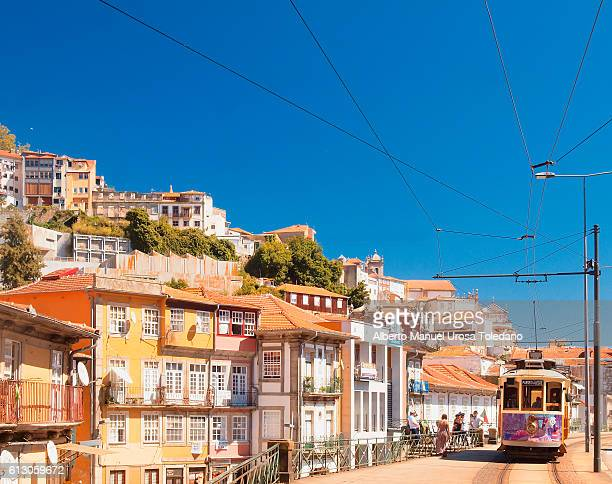 portugal, porto, tram at alfandega area - portugal stock pictures, royalty-free photos & images