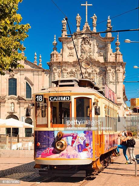 Portugal, Porto, Tram at Gomes Teixeira square