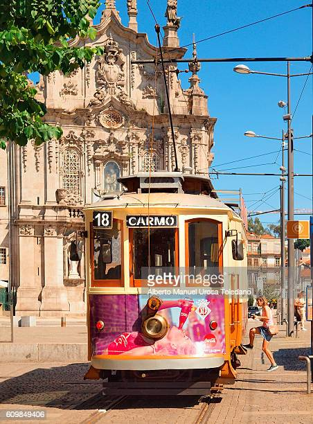 Portugal, Porto, Trams at Gomes Teixeira square