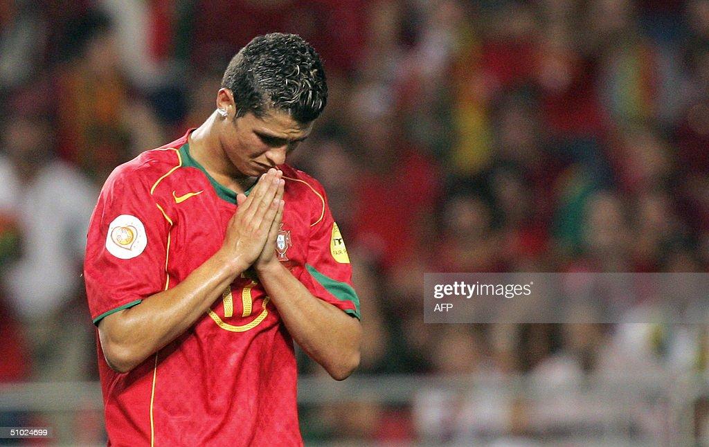 Portuguese forward Cristiano Ronaldo rue : News Photo