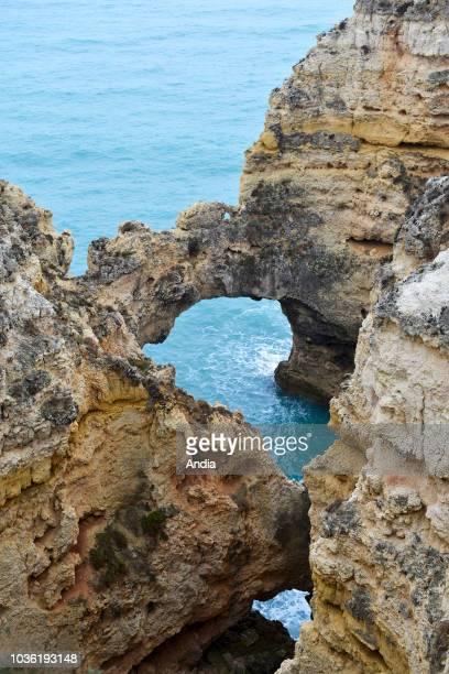 la Ponta da Piedade cliffs and rocks along the coast
