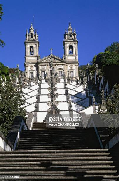 Sanctuary of Bom Jesus do Monte built in the XVIIIth century by Carlos Amarante Portugal sanctuaire de Bom Jesus do Monte construit au XVIIIe par...