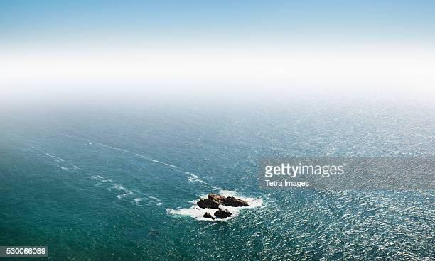 Portugal, Sintra, Small island on Atlantic Ocean