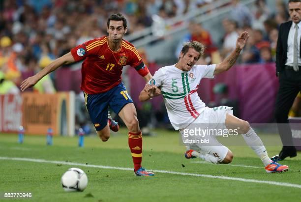 FUSSBALL EUROPAMEISTERSCHAFT Portugal Spanien Alvaro Arbeloa gegen Fabio Coentrao