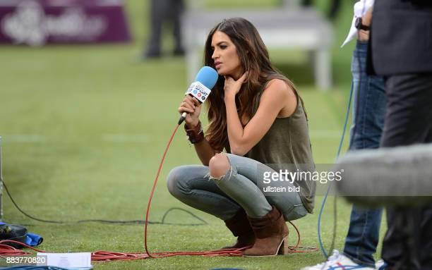 FUSSBALL EUROPAMEISTERSCHAFT Portugal Spanien TVModeratorin Sara Carbonero