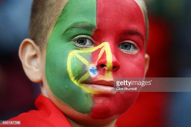 Portugal supporter is seen prior to the UEFA EURO 2016 Group F match between Portugal and Iceland at Stade GeoffroyGuichard on June 14 2016 in...