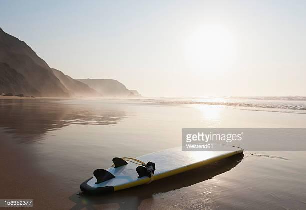 Portugal, Surfboard on beach