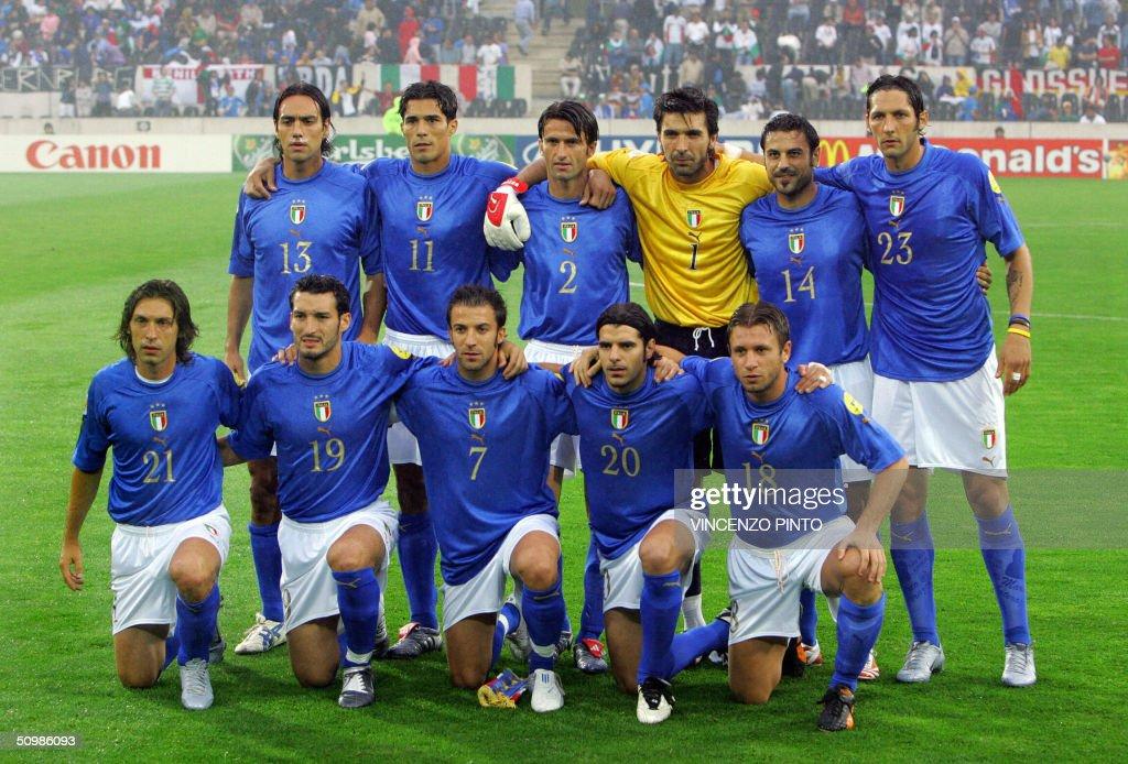 The Italian national football team playe : Nachrichtenfoto
