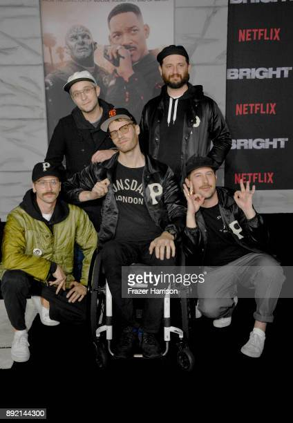 Portugal the Man arrive at the Premiere Of Netflix's 'Bright' at Regency Village Theatre on December 13 2017 in Westwood California
